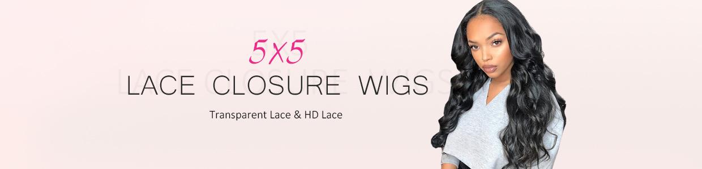 5x5 Closure Wigs