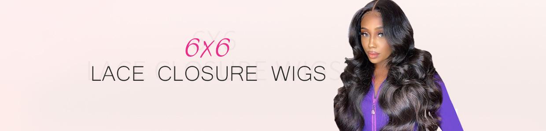 6×6 Lace Closure Wigs
