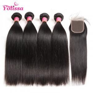 Human Virgin Straight Brazilian Hair 4 Bundles