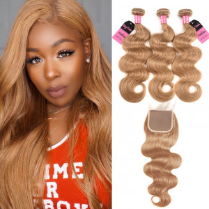 #27 body wave 3 bundles with closure