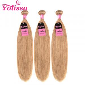 #27 Golden Brown 3 Bundles Straight Hair