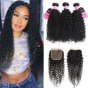 curly 3 bundles with closure