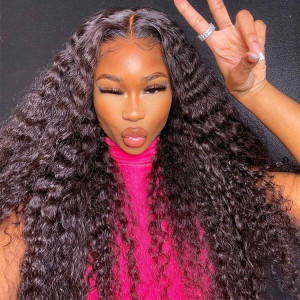 deep wave lace closure wigs