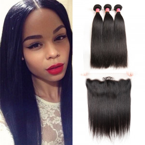 Straight Human Hair Lace Frontal