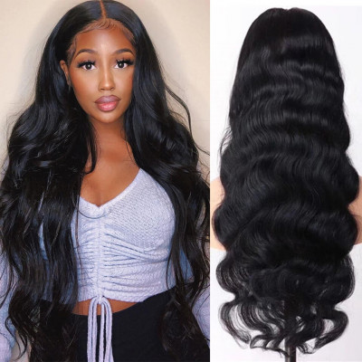 Body Wave 16-36 Inch Long 13*6 Human Hair Lace Front Wigs Pre-plucked With Baby Hair