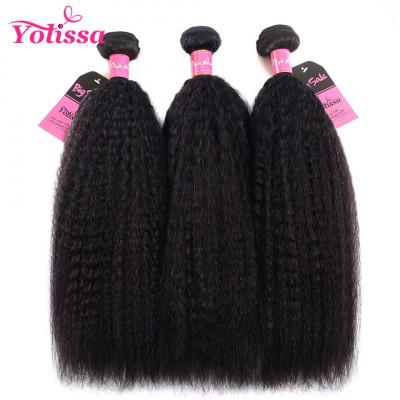 Yaki Hair Kinky Straight 3 Bundles Human Hair