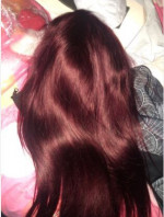 I love it already very thick silky the color
