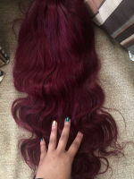 The hair is very soft and pretty. I love it .