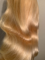 This blonde body wave hair is very beautiful,