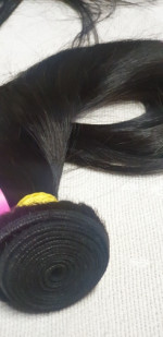 My Bundle came very quick the hair looked lik