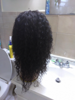 This hair is so thick I didn't even need al