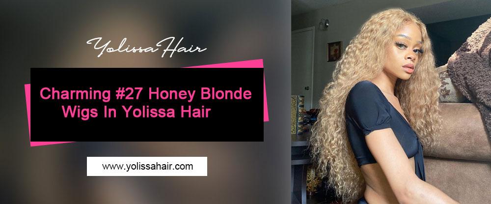 Charming #27 Honey Blonde Wigs In Yolissa Hair