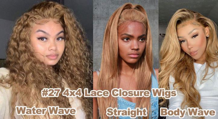 #27 4x4 lace closure wig