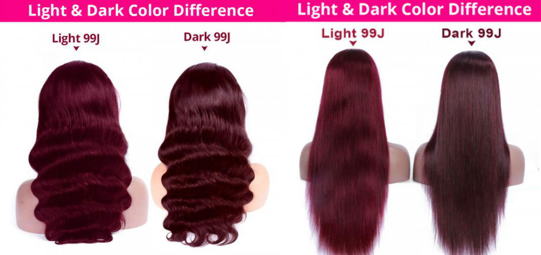 99J burgundy lace part wigs