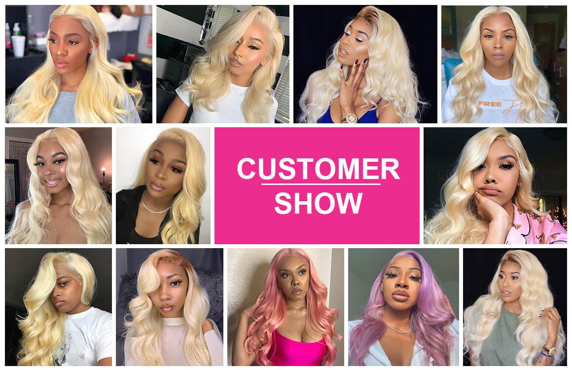 613 Blonde Lace Closure 5*5 Swiss Lace