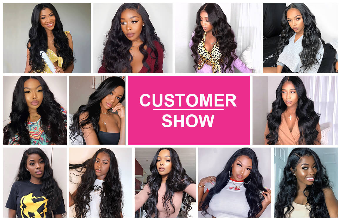 Yolissa Body Wave Virgin Hair 3 Bundles with Lace Closure 4*4