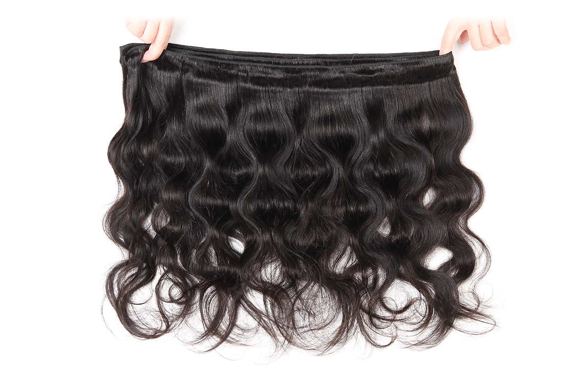 100% human hair body wave bundles with closure
