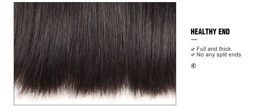 Yolissa Straight Virgin Hair Bundles With 6*6