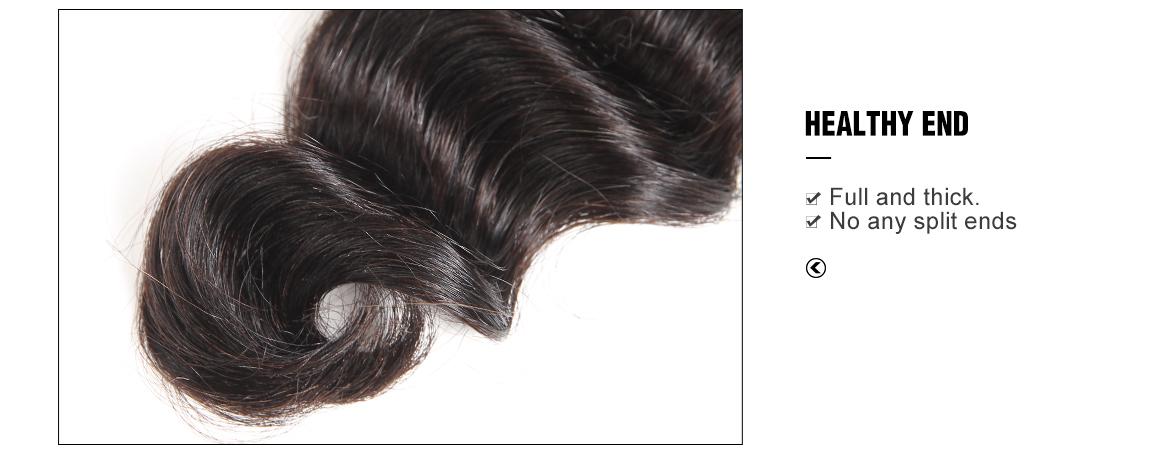 4 virgin hair loose deep hair bundles with ear to ear lace frontal