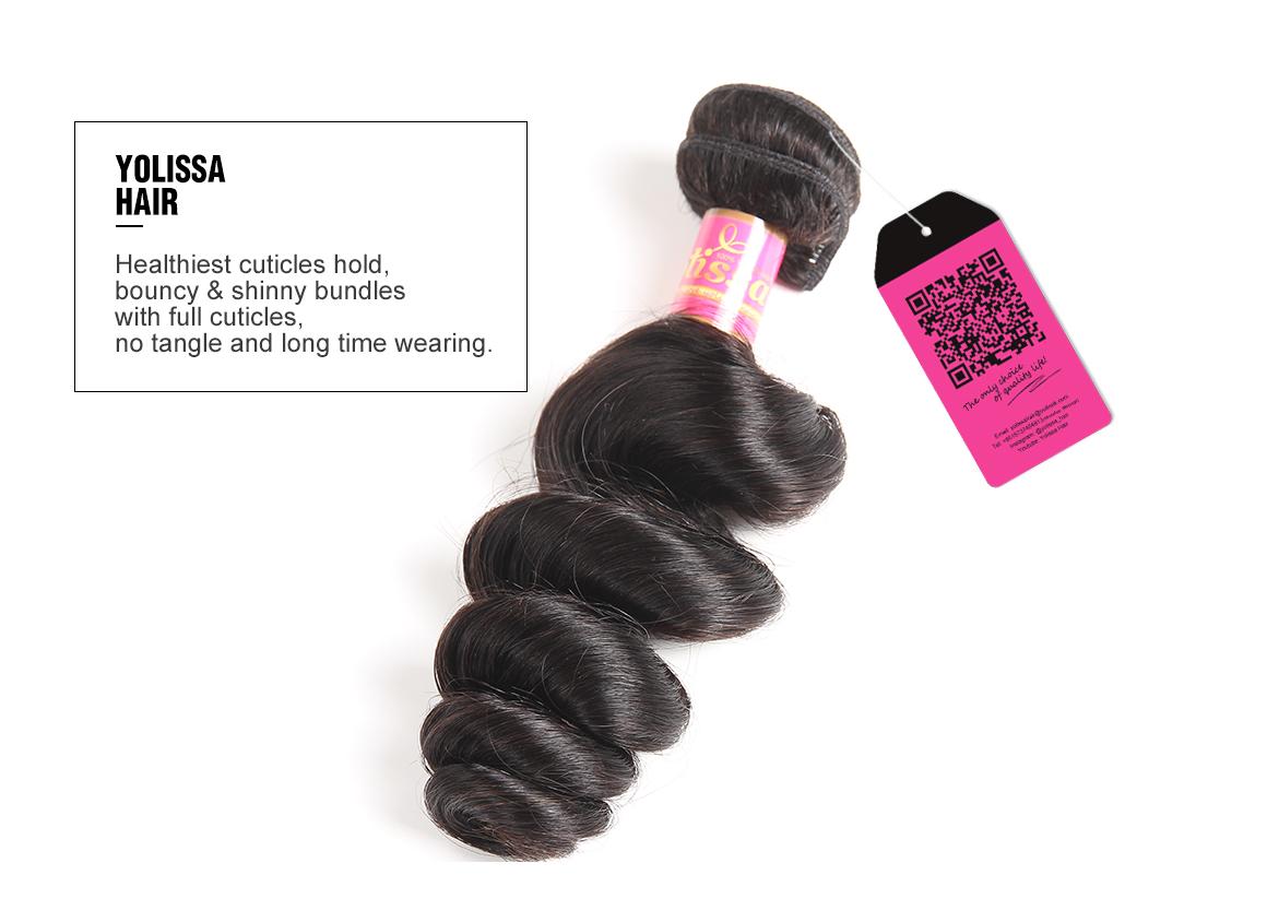 3 bundles loose wave brazilian hair weave human hair