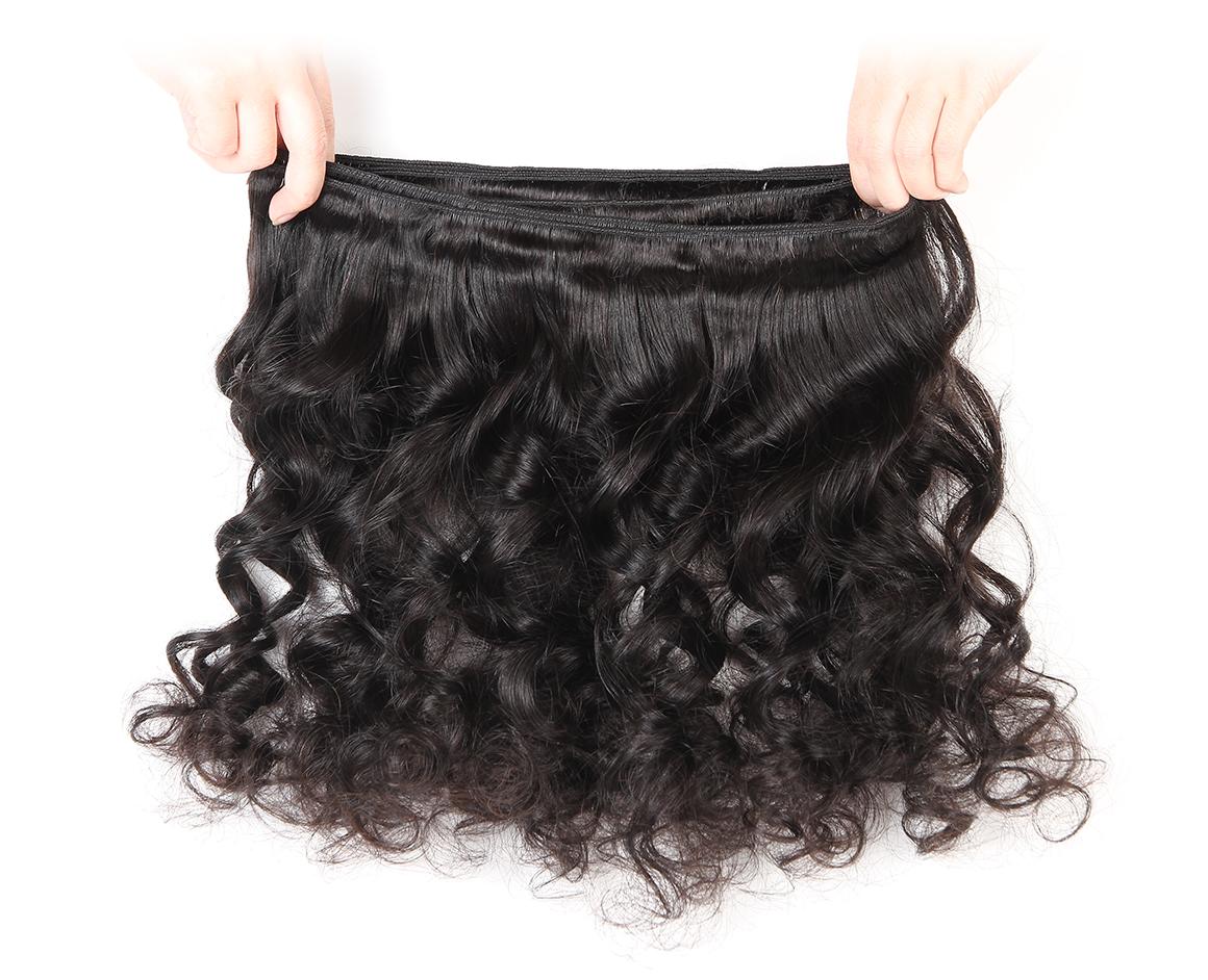 Brazilian Virgin Hair Loose Wave Hair Weft Single Bundle Deal 10-30 Inch For Sale