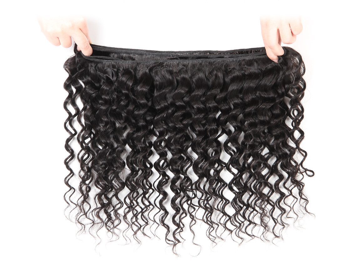 Yolissa Hair Virgin Hair Deep Wave 4x4 Lace Closure with 3 Bundles