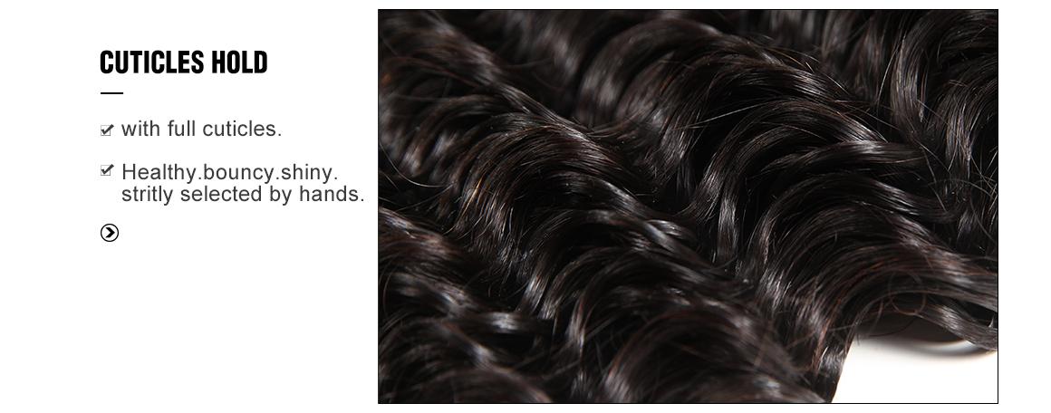 deep wave 3 bundles with 4x4 lace closure