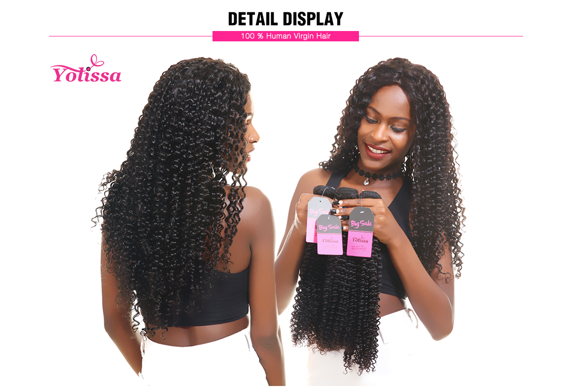 3 bundles kinky curly wave brazilian hair weave virgin hair