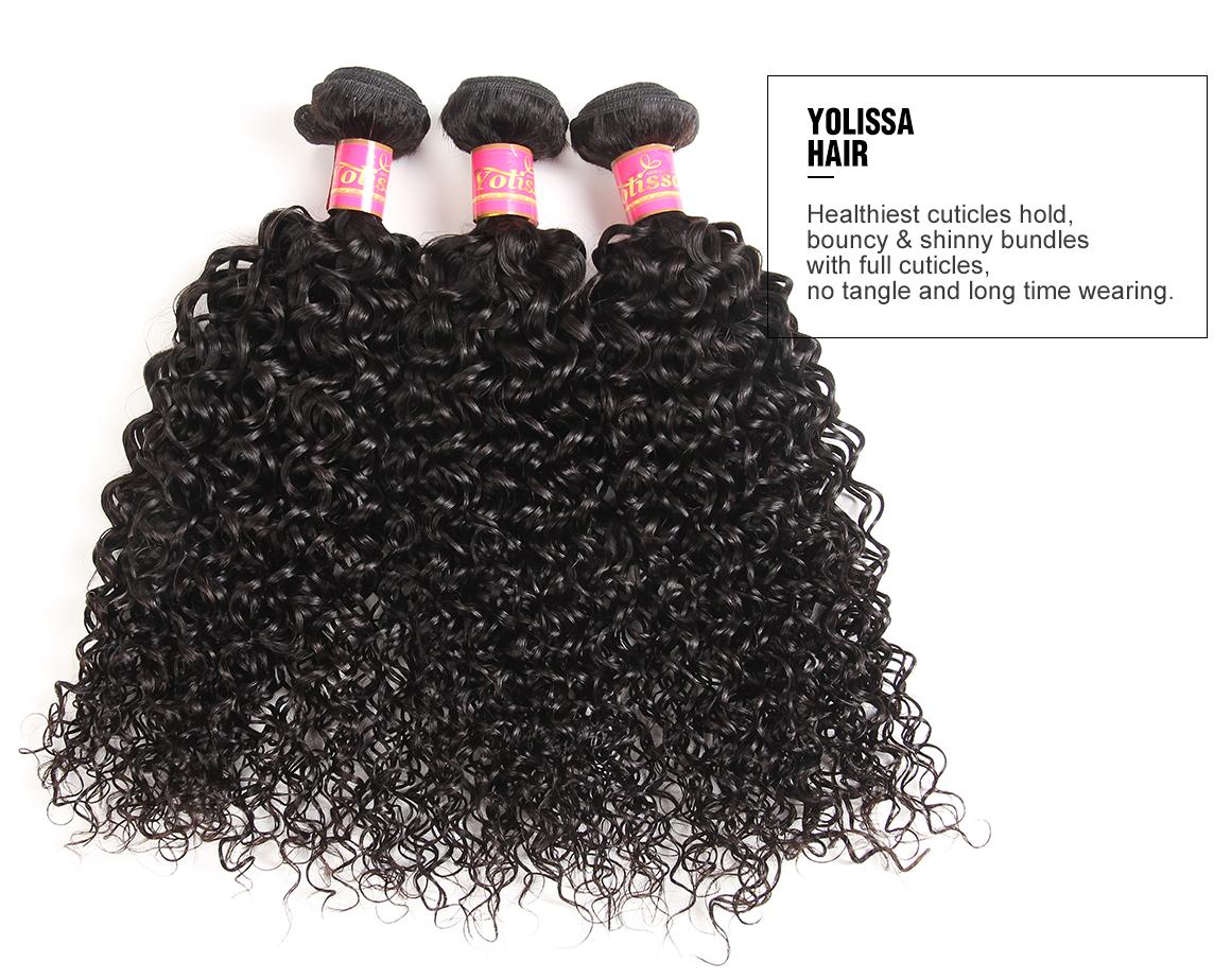 Human Hair Curly Bundles With 5*5 Closure