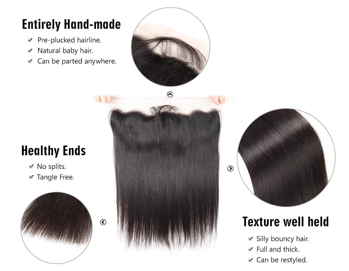 Yolissa cheap hair bundles with straight lace frontal