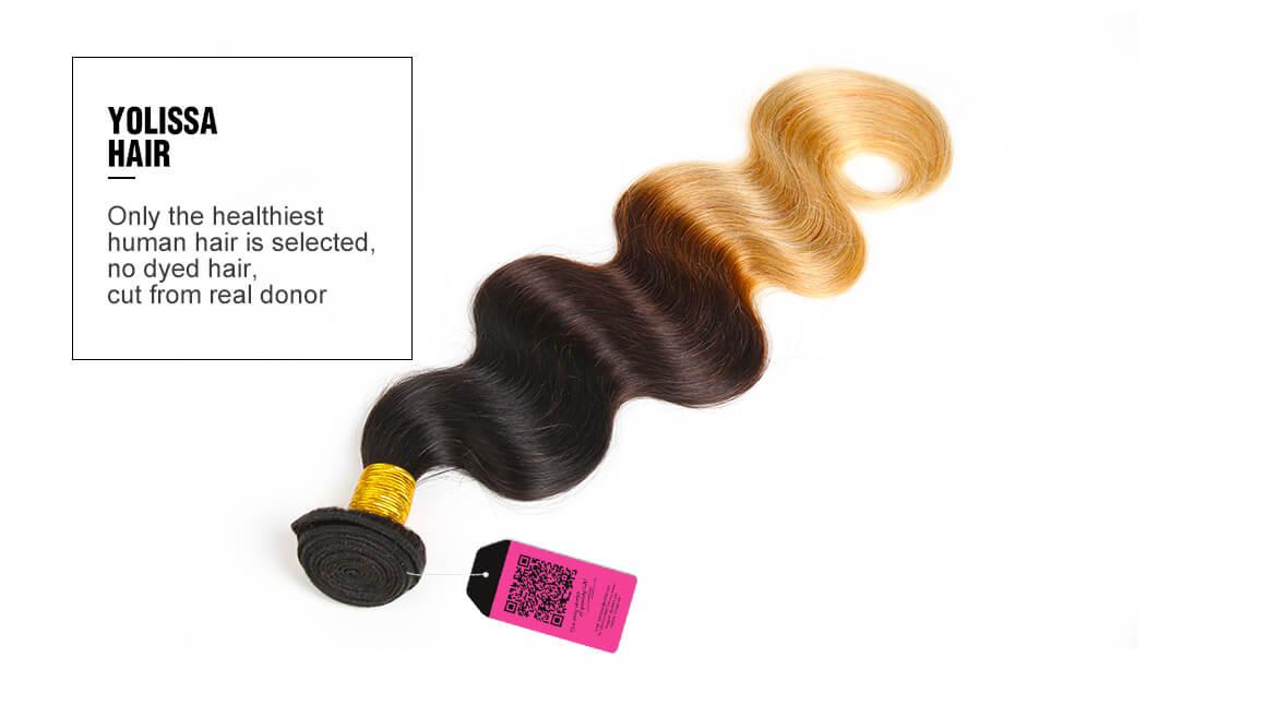 cheap 1B/4/27 body wave human virgin hair bundles