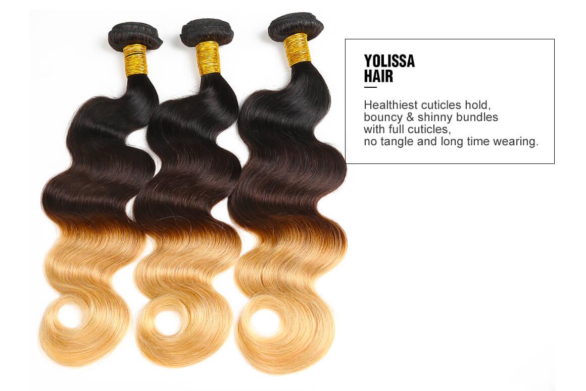 3 ombre virgin hair bundles