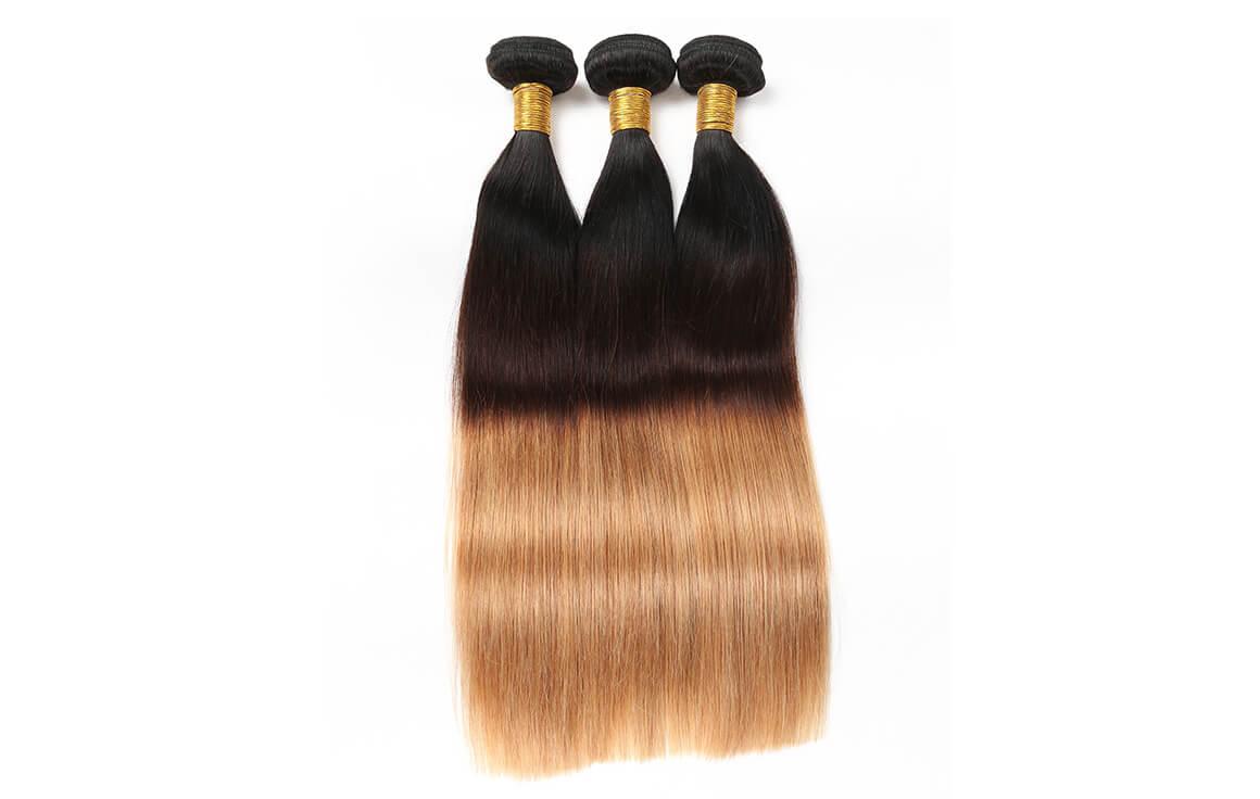 Ombre Hair Color Brazilian Straight Hair