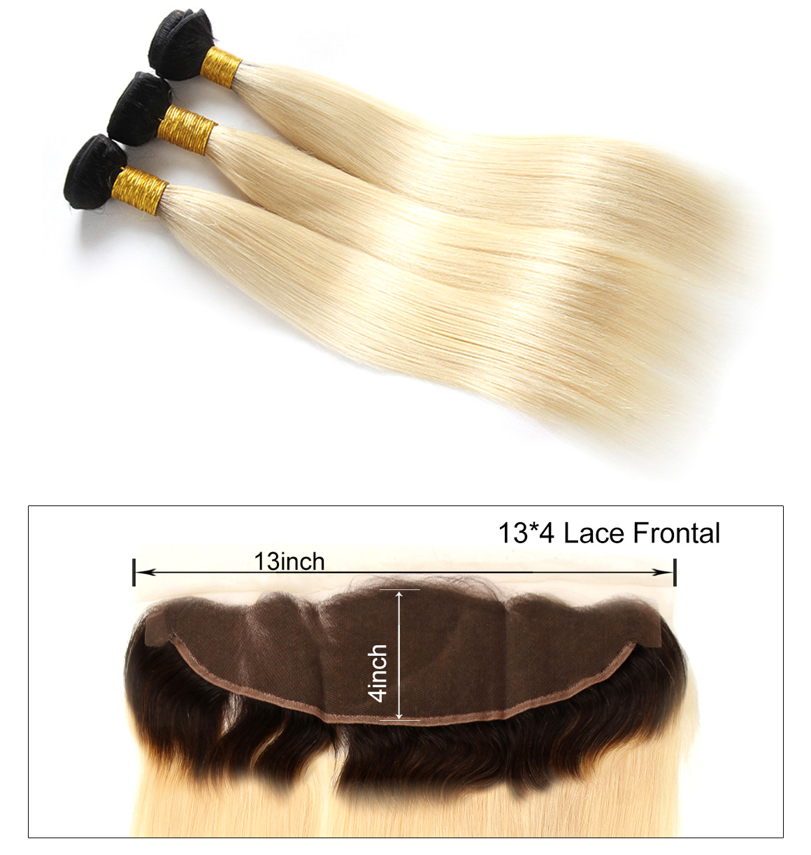 Ombre Blonde Straight Hair With Dark Roots