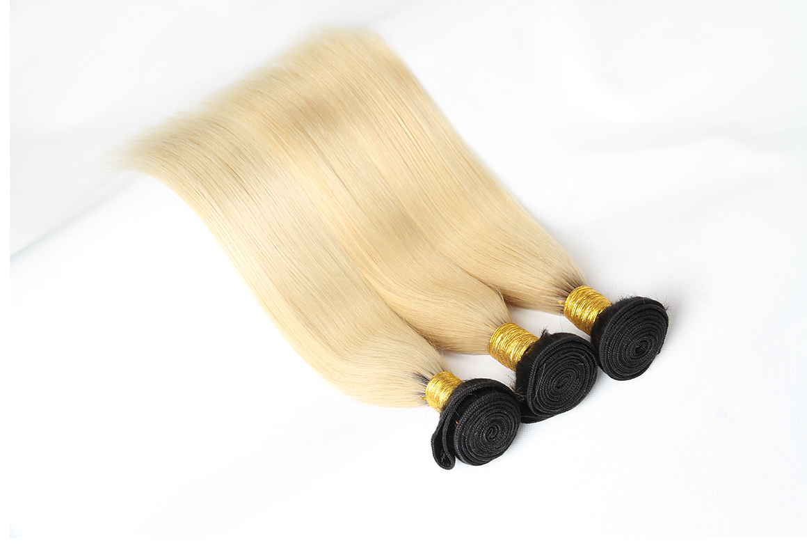 ombre 1b/613 straight brazilian hair extensions