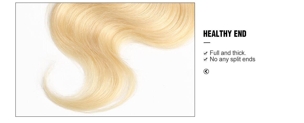 4x4 pure blonde virgin hair lace closure