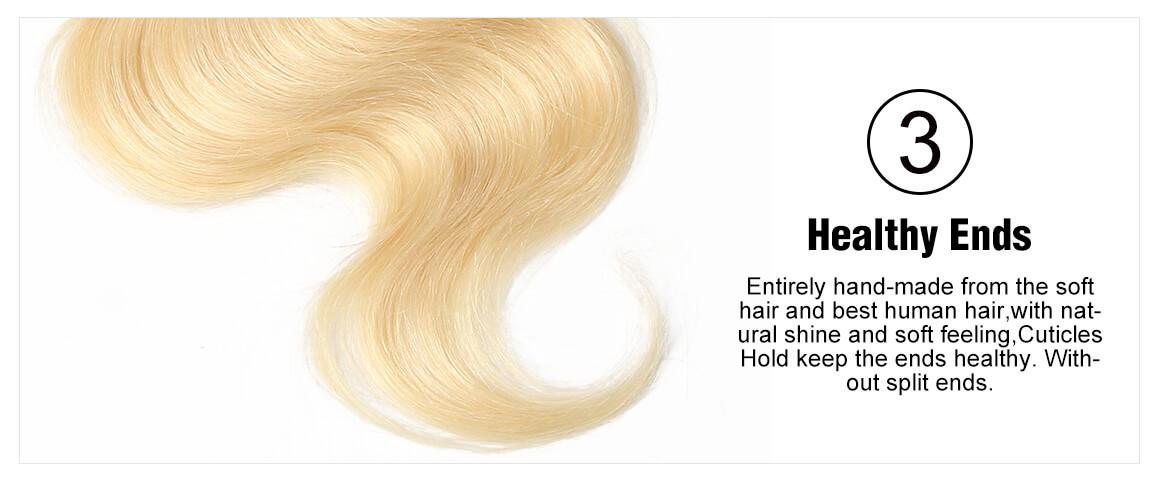 1B/613 Body Wave Lace Frontal Closure Human Hair