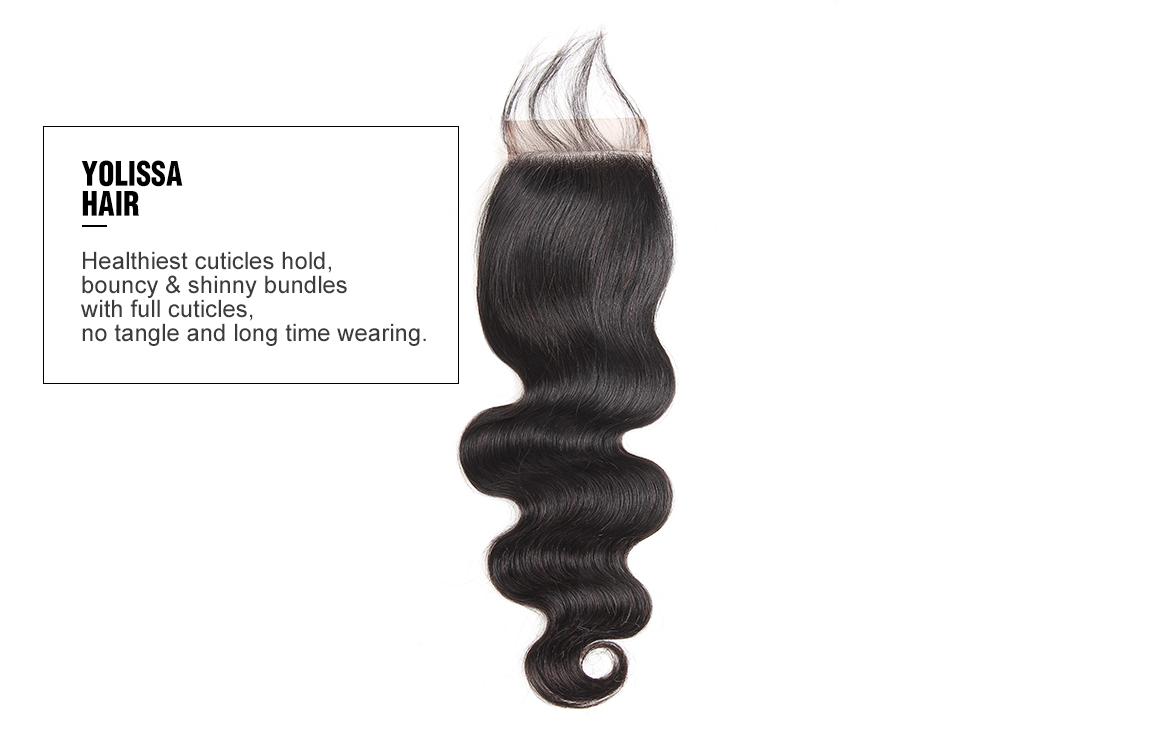 body wave human hair weave 4 bundles with closure