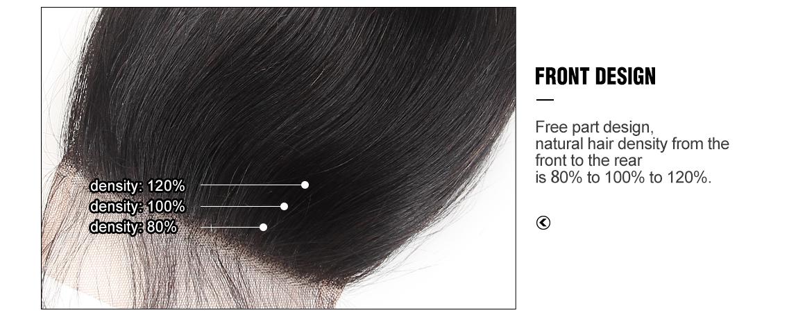 transparent lace closure with hair bundles