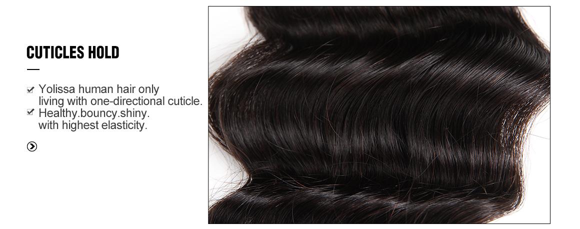 brazilian human hair loose deep wave bundles with lace closure