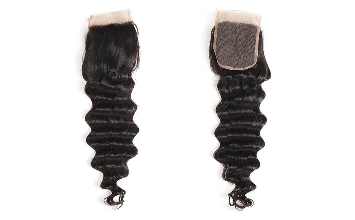 Yolissa Loose Deep 4x4 Lace Closure Human Virgin Hair