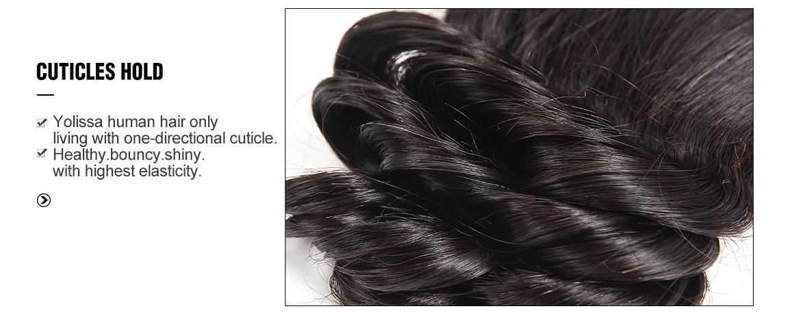 brazilian human hair loose wave bundles with lace closure