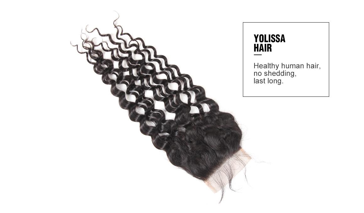 brazilian virgin hair water wave bundles with lace closure
