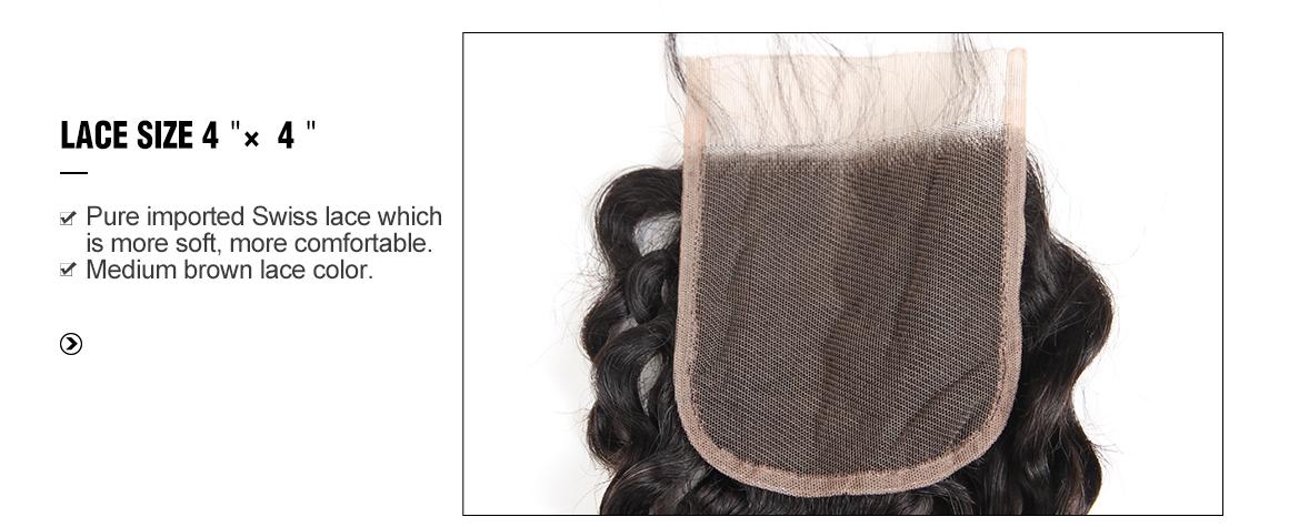 4x4 lace closure with deep wave 3 bundles