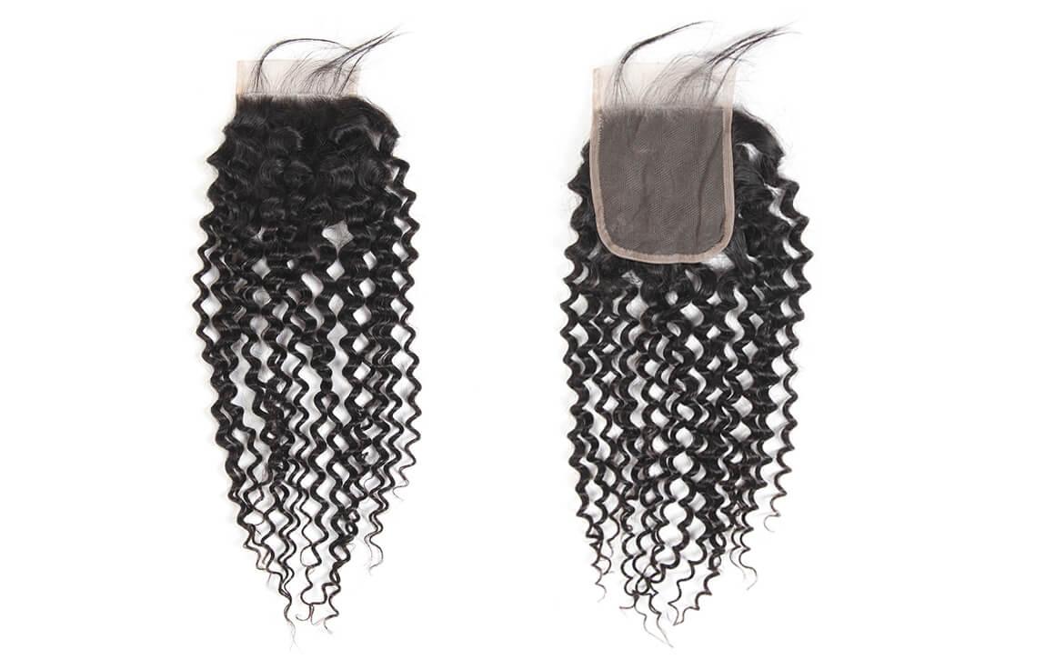 Brazilian Curly Human Virgin Hair Lace Closure Free Part