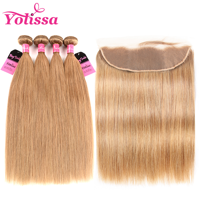 27 Hair Color 4 Bundles With Fronal