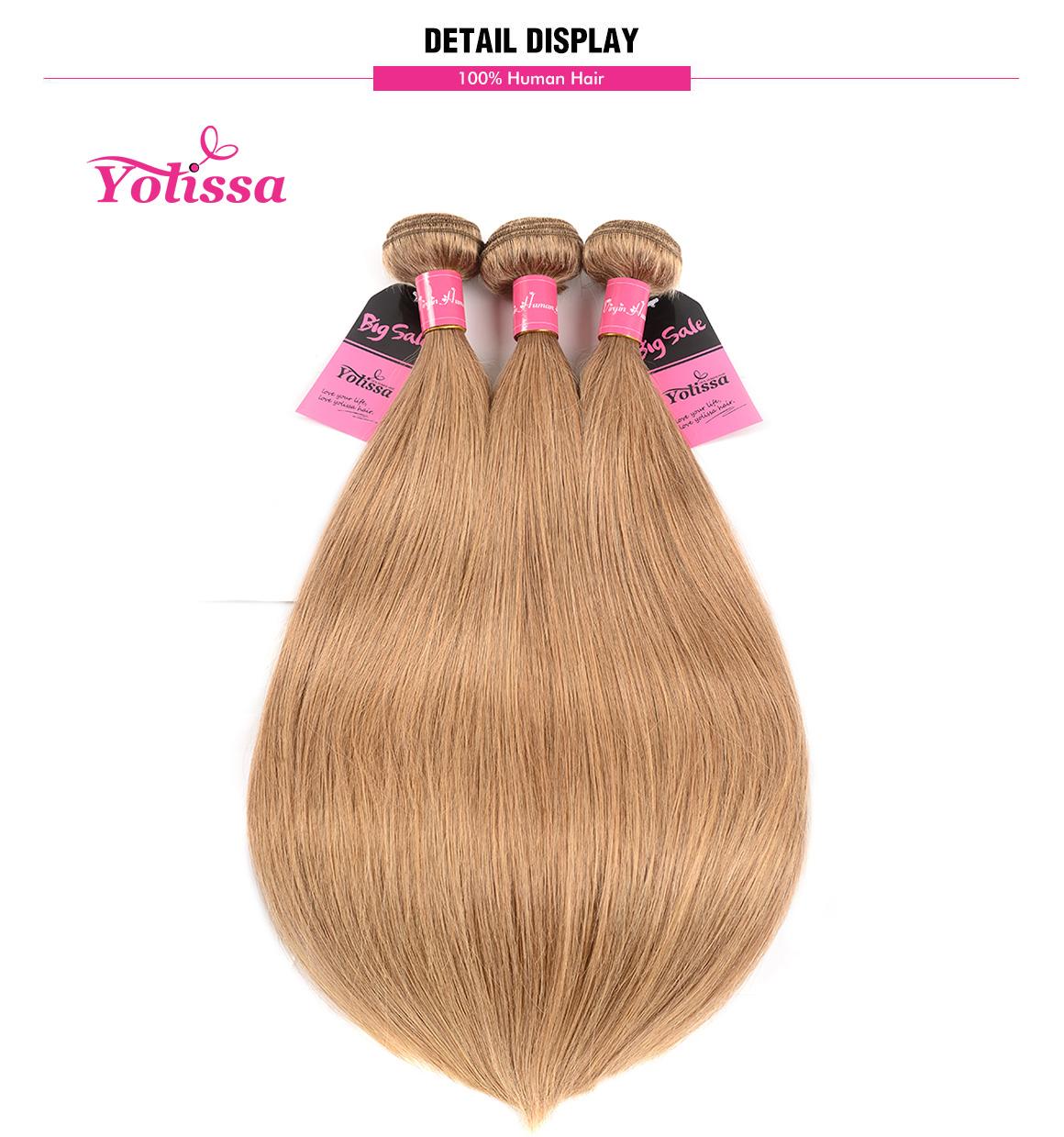 Yolissa 3 Bundles Pure #27 Straight Hair