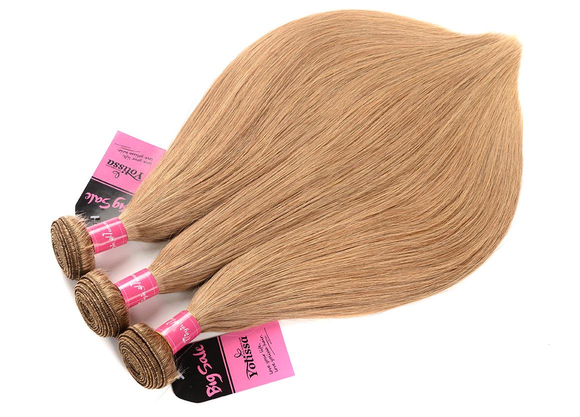 3 Bundles Pure #27 Straight Hair Weaves