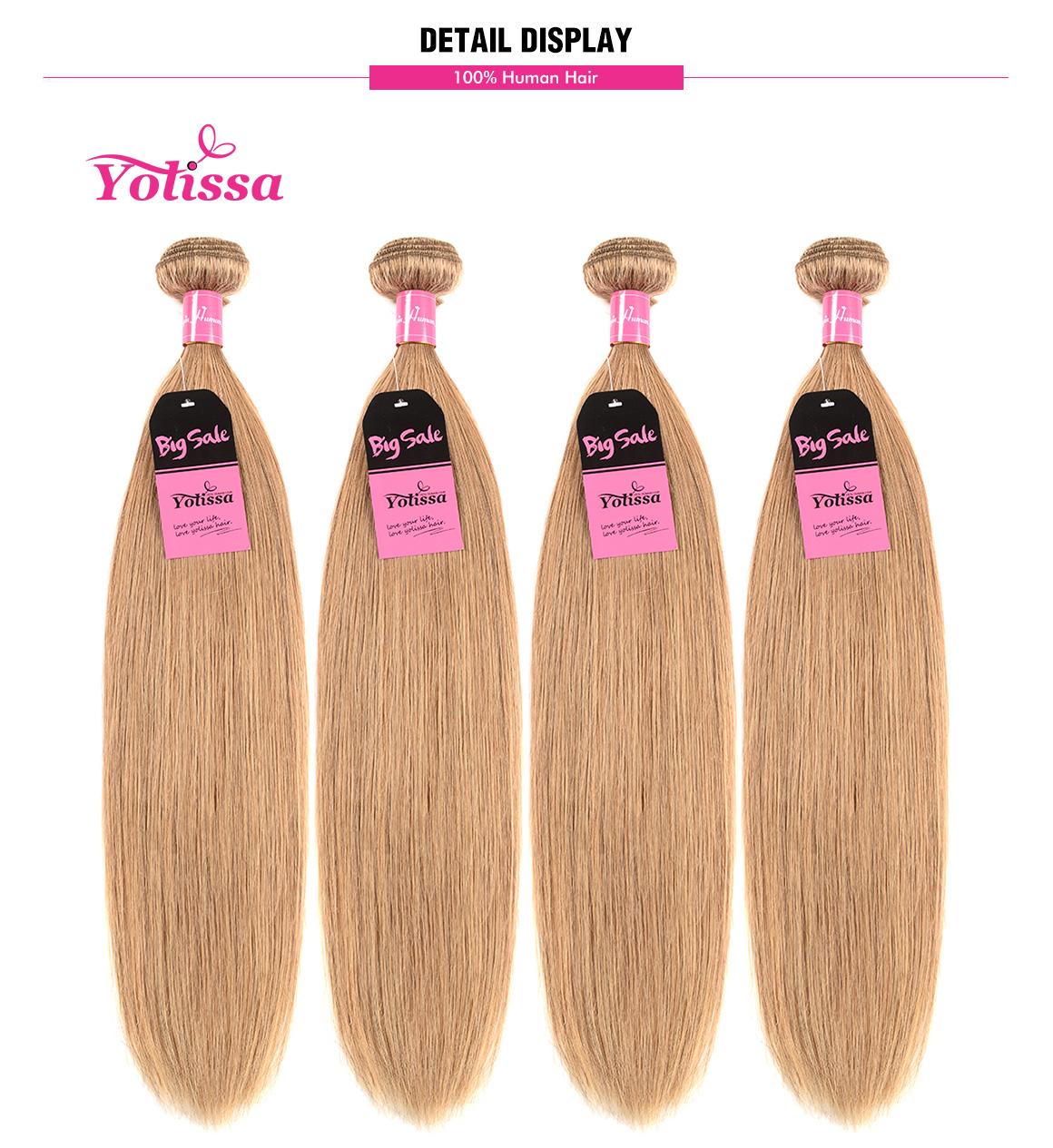 Straight Honey Blonde #27 Hair Color