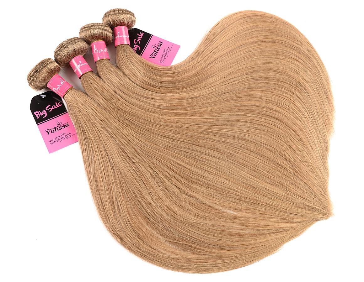 Straight Honey Blonde #27 Hair Color Weaves
